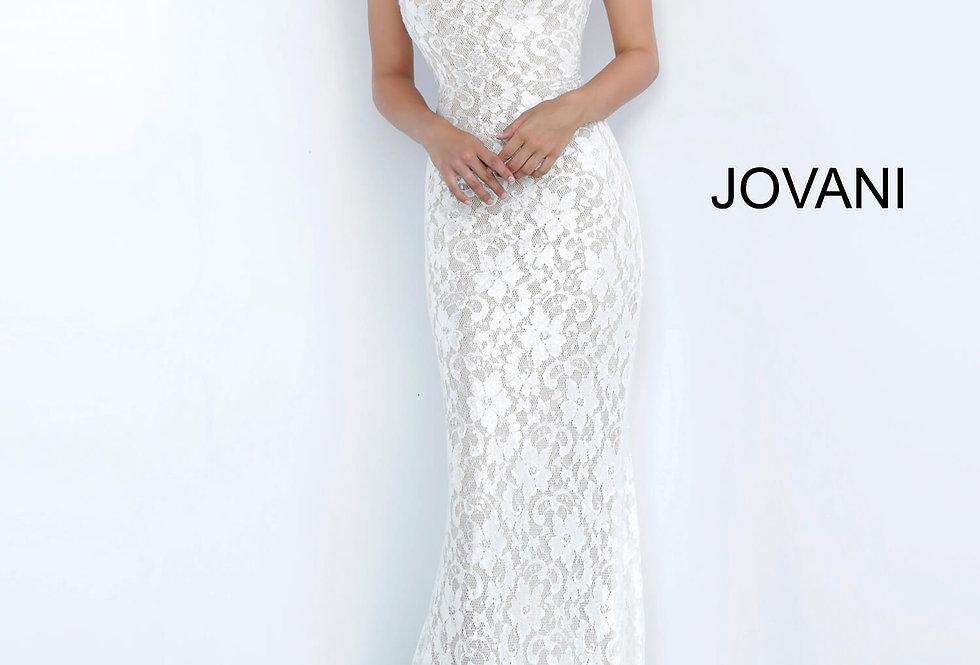 Jovani High Neckline Lace Dress 8081