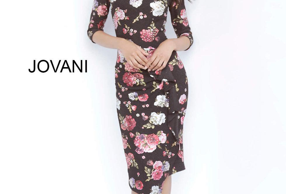 Jovani Short Fitted Print Dress 2915
