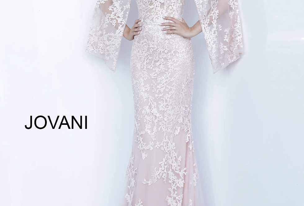 Jovani Long Sleeve Fitted Dress 66363