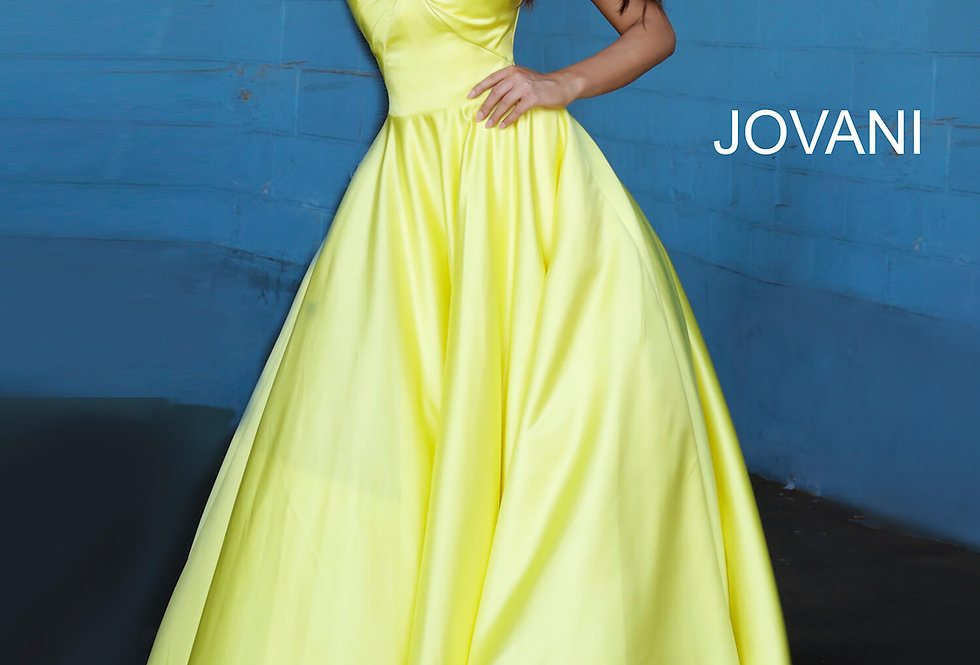 Jovani Sweetheart Satin Dress 67847