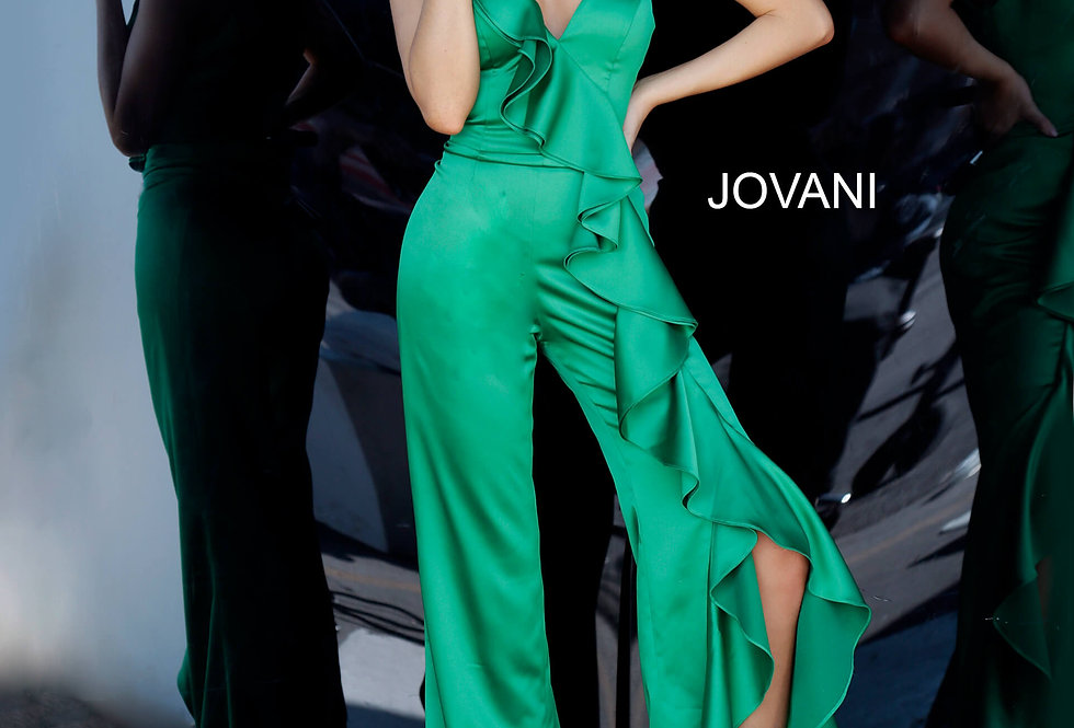 Jovani Fitted Jump Suit Dress 3012