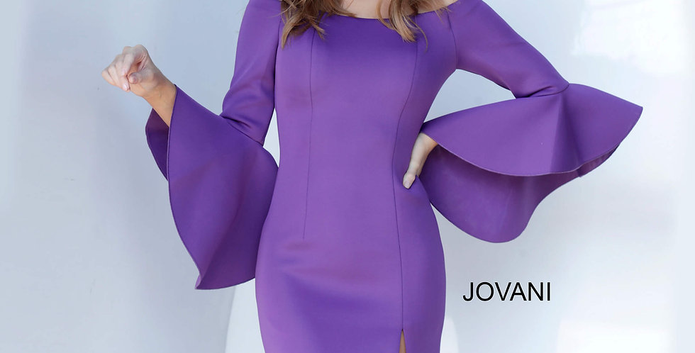 Jovani Short Long Sleeved Dress 1587