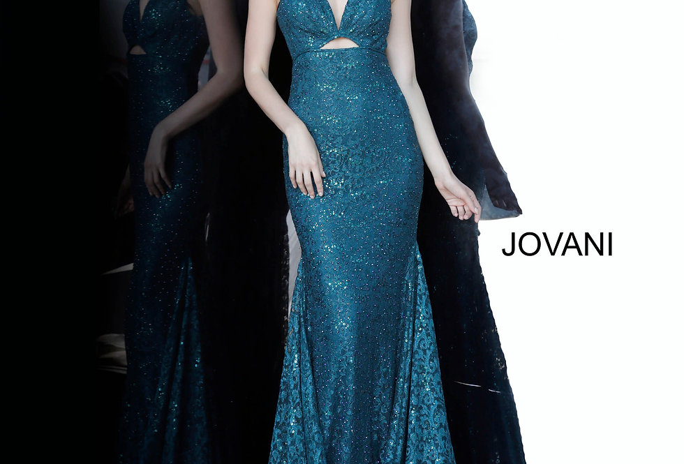 Jovani V-Neck Lace Dress 2967