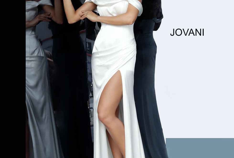 Jovani Fitted Cap Sleeve Dress 68087