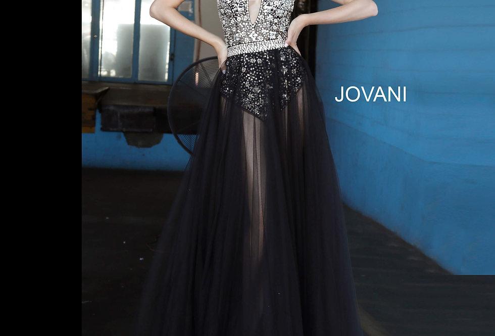 Jovani Beaded Tulle Dress 65381