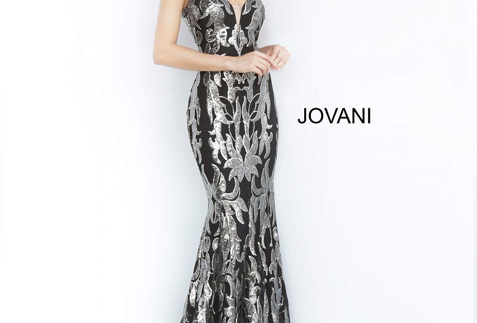 Jovani V-Neck Sequins Dress 3263