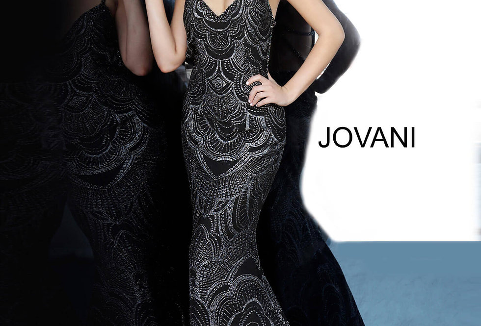 Jovani Fitted Sparkling Dress 00501