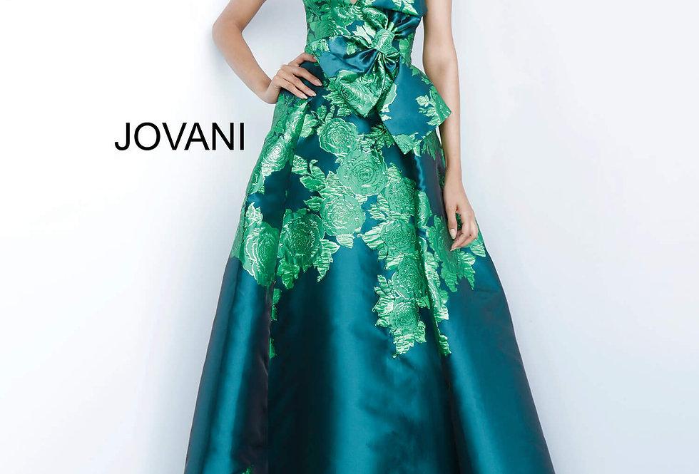 Jovani V Neck Ball Gown Dress 02046