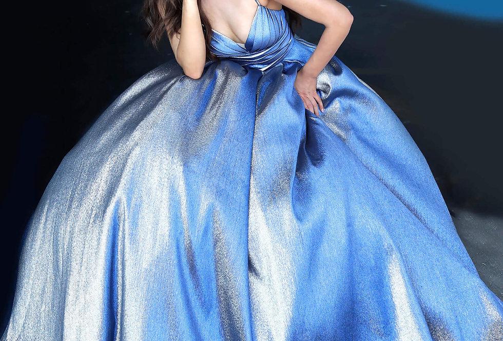 Jovani V-Neck Long Dress 2094
