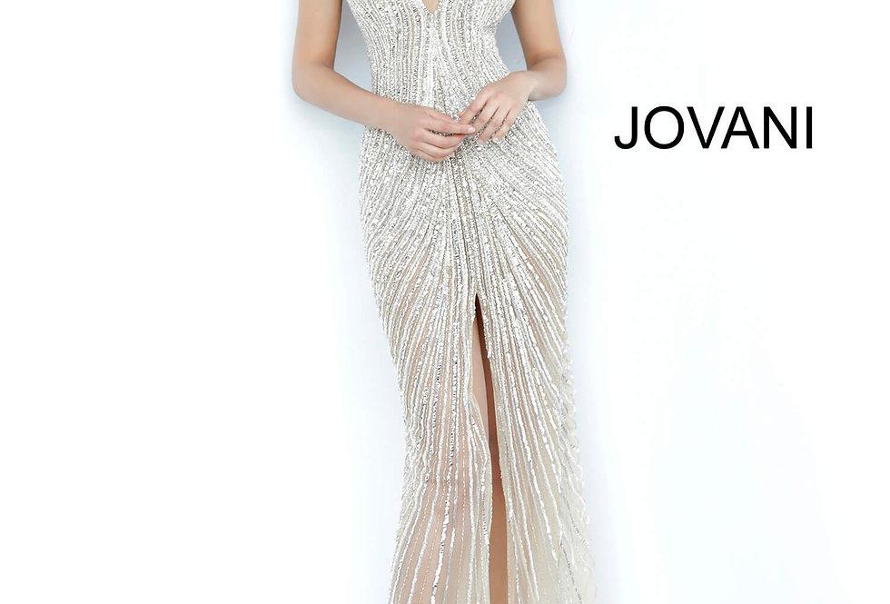 Jovani V-Neck Sequins Dress 2609