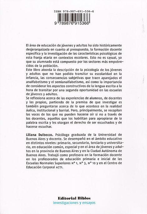 Libro Contratapa