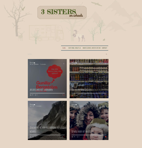 """Three sisters on wheels"" online."