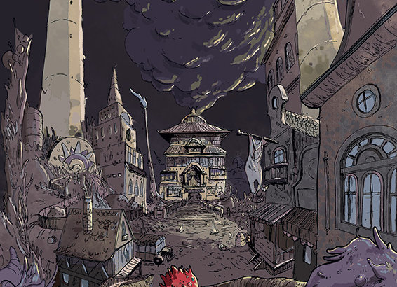 Print em A3- Labirinto (castelo)