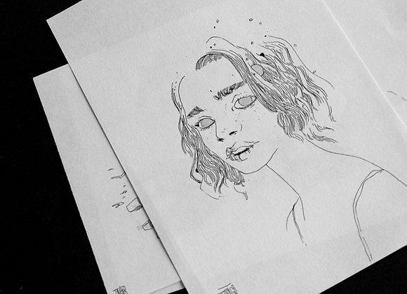 Arte original em formato A5 (retrato)