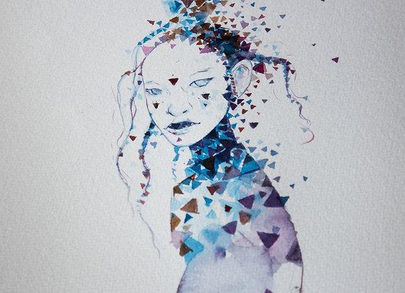 Original em aquarela - fragmentos