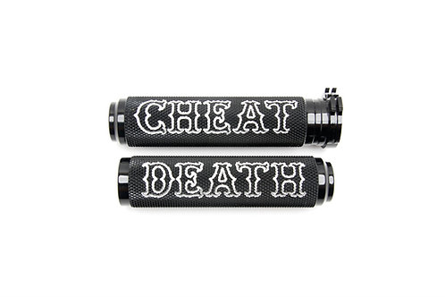 BLACK OR GOLD CHEAT DEATH KNURLED GRIPS