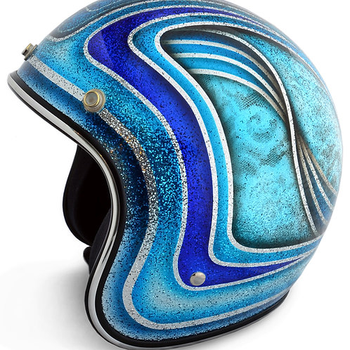 Scalloped Candy Blue Helmet
