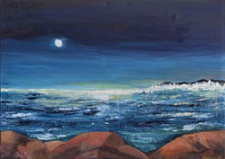 Nuit tombant sur la mer