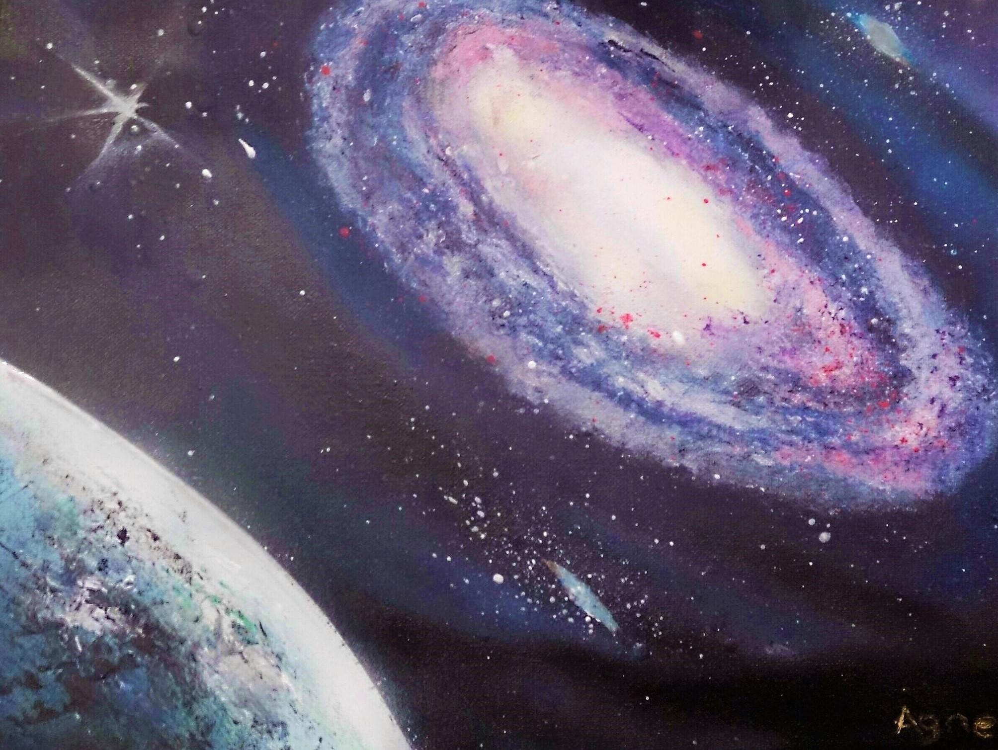 Galaxie et planète