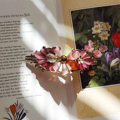 80s Floral Multi-colored Barrette