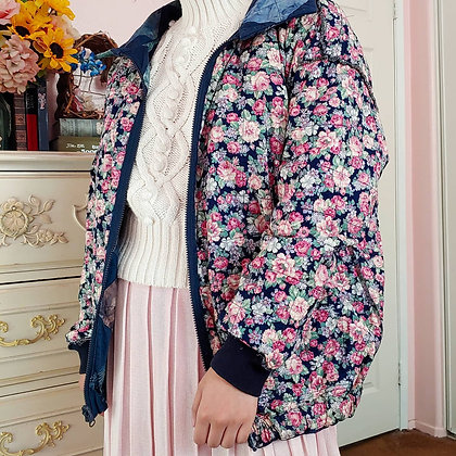 90s Reversible Floral & Watercolor Jacket, up to XL