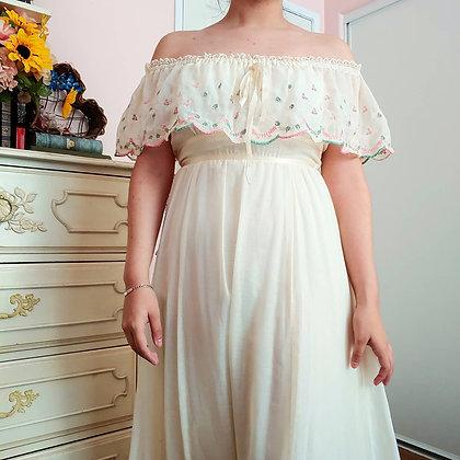 70s Peasant Dress, S
