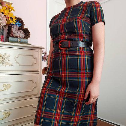 60s Plaid Shift Dress