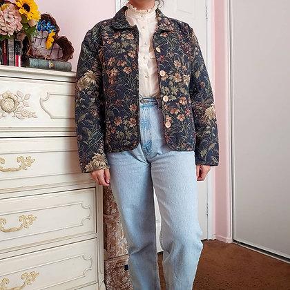 90s Daisy Tapestry Jacket, M/L
