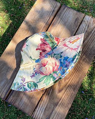 90s Floral Waterproof Bucket Hat