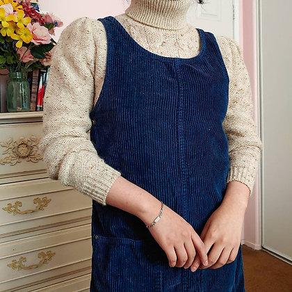 90s Royal Blue Jumper Dress
