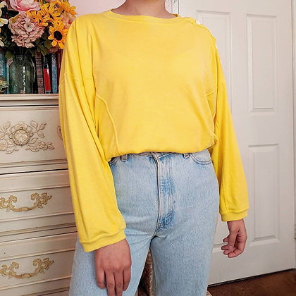 80s Yellow Wombat Long Sleeve, up to XL fitted
