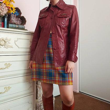 60s Etienne Aigner Leather Jacket, S/M
