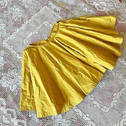 Y2K Prada Mustard Yellow Circle Skirt