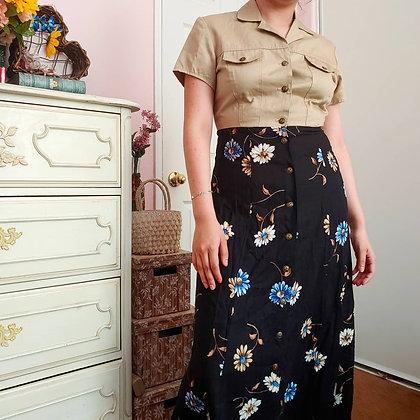 1995 Khaki & Floral Dress