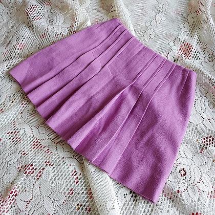 "60s Purple Wool Mini Skirt, 25"" to 26"" taut"