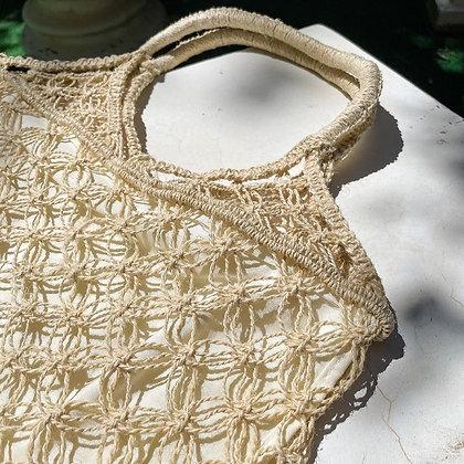 90s NWT Straw Woven Market Bag