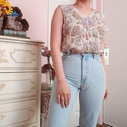 90s NWT Floral Vest Top, XS-M