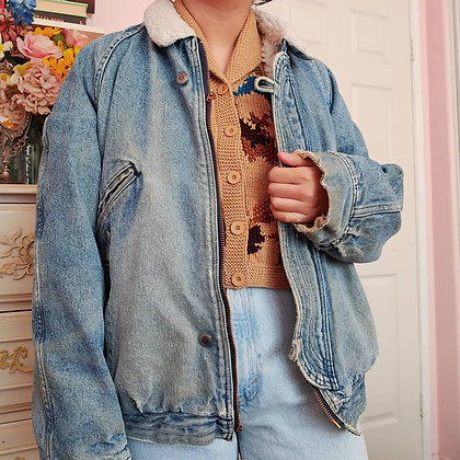 80s Levi's SHerpa & Quilt Lined Jacket, up to XL, 4 pounds 2 oz