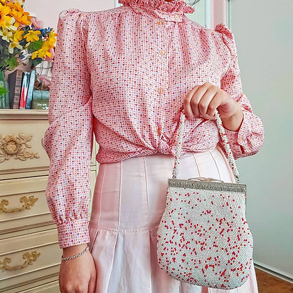 60s Pearl & Iridescent Beaded Handbag