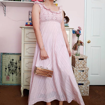 60s Lanz Babydoll PInk Dress, XS