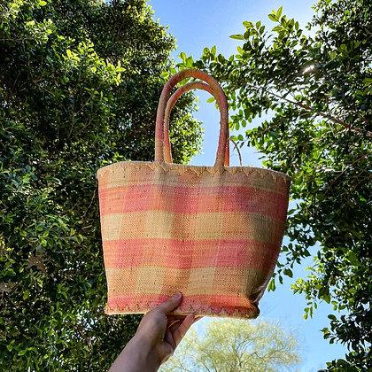 80s Pink Gingham Large Tote Bag
