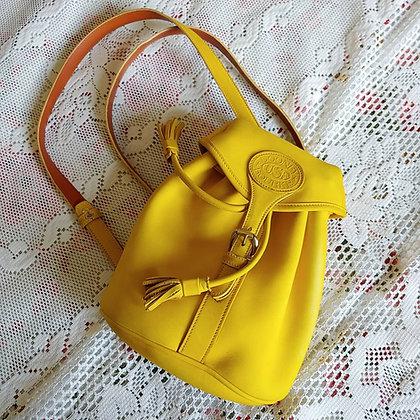 90s Dooney & Bourke Yellow Mini Backpack