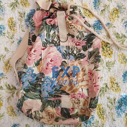 90s Floral Sling Backpack