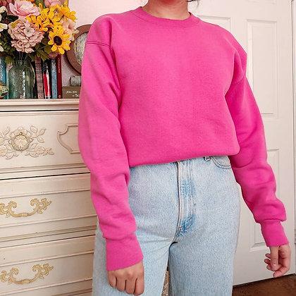 80s Lee Pink Crew Neck Sweatshirt, up to L