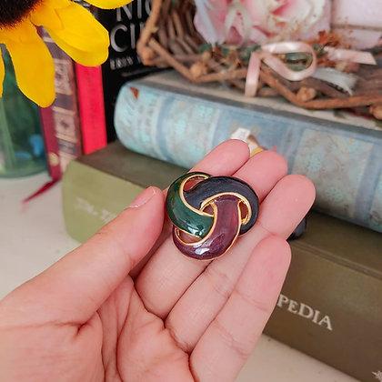 80s Colorblock Knot Earrings