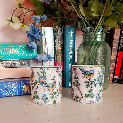 90s Bird & Floral Small Planters