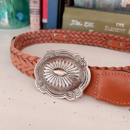 90s Concho Woven Belt, S/M