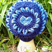 Hearts in a Row Slouchy Hat