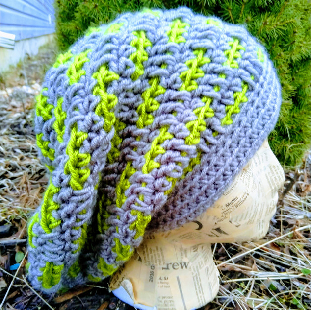 Dashed Slouchy Hat