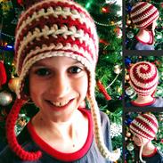 Peppermint Swirl Ear Flaps Hat